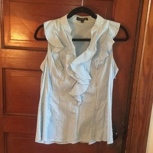 Sleeveless Ruffle Blouse from Express